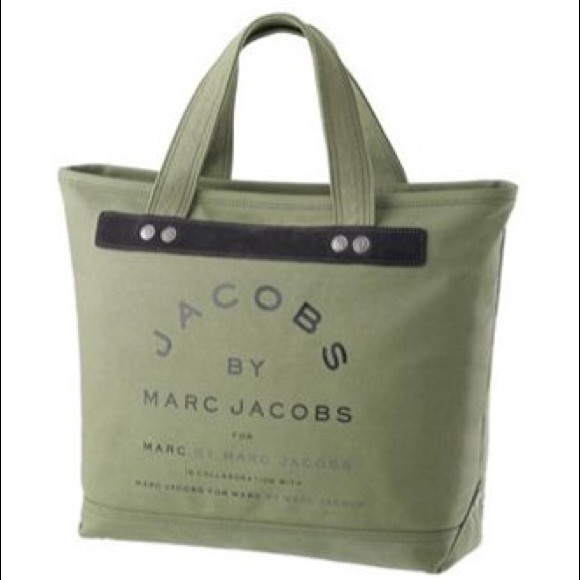 7612474d180a Marc by Marc Jacobs green canvas tote bag. M 5abe7f4aa6e3ea3b0c32ac71